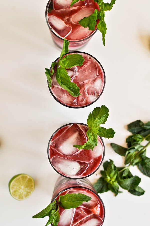 triple berry mojitos