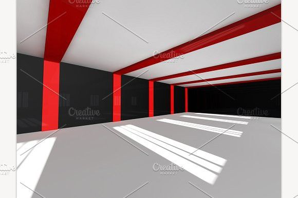 Empty White Open Space 3d Rendering Light Blank Contemporary