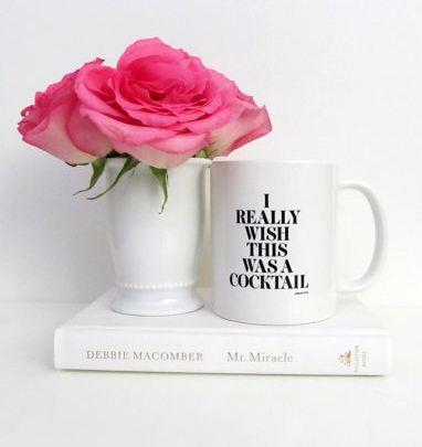 I Really Wish This Was A Cocktail Mug  Inspirational   Champagne   Bar Cart    Coffee Mug   Tea   Gift