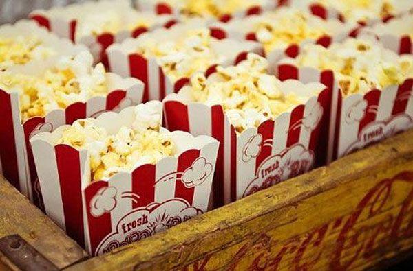 Pop corn pour un mariage cinéma