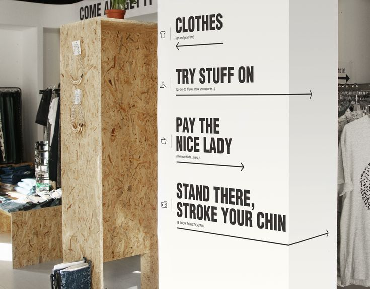 Cheap Monday Pop Up Store - Danielle Shami, Signage Wayfinding