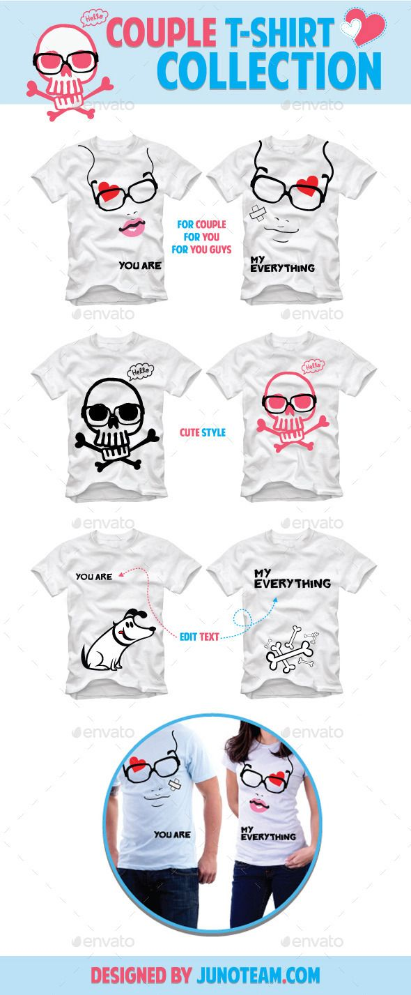White t shirt eps - Couple T Shirt Collection Funny Design Template Vector Eps Download Here Http
