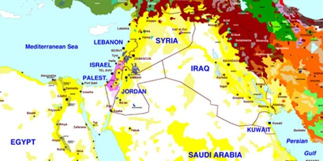 Ethnic map of the Middle East  Geographical Maps  Infographics
