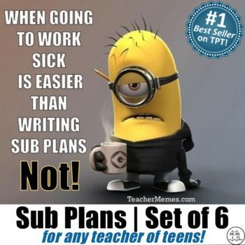 Best Sub Plans For Teachers Images On   High School