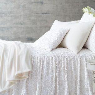 Candlewick Dove White Bedspread