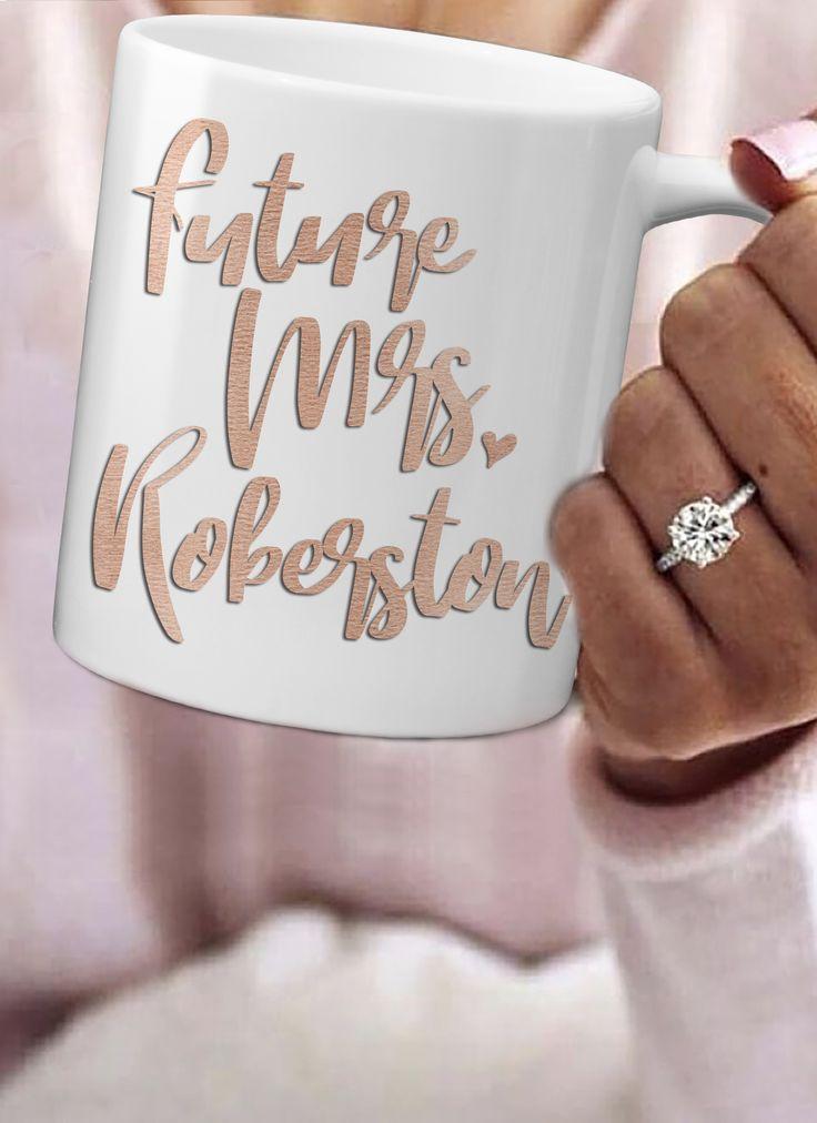 Future Mrs Mug | Personalized Engagement Mug | Ollie + Hank