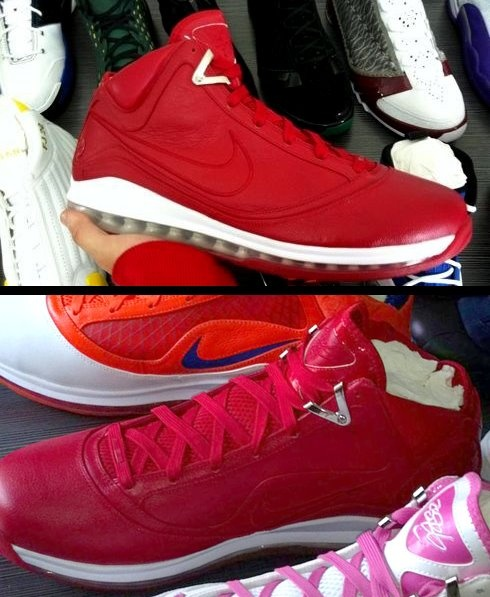 Nike Air Max LeBron VII Red NFW PE - Unreleased Sample Despite the fact  that we have moved on to the ninth generation of LeBron James' signature  kicks, ...