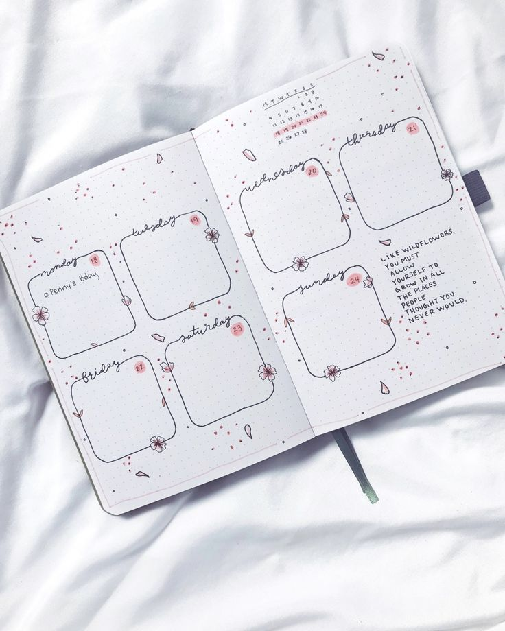 Bullet journal weekly spread by ig@ashtensjournals…