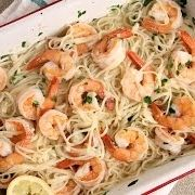 Roasted Shrimp Scampi I used a 17oz package of noodles. Definitely needed more s…