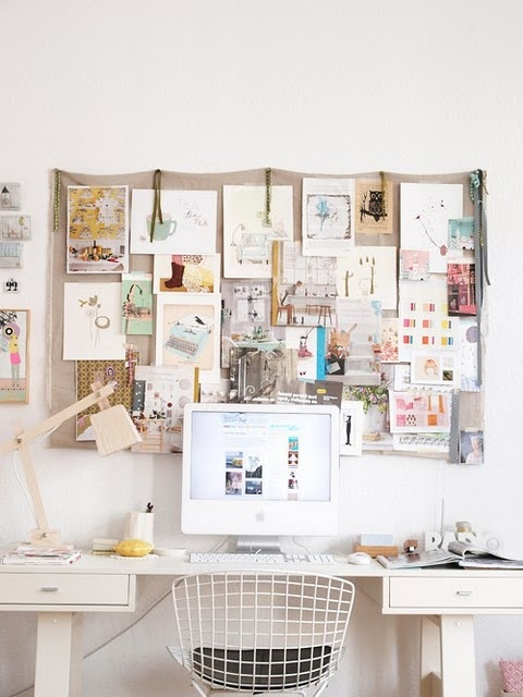 so crafty: Mood Boards, Pin Boards, Offices Spaces, Inspiration Boards, Work Spaces, Workspaces, Desks, Moodboard, Home Offices