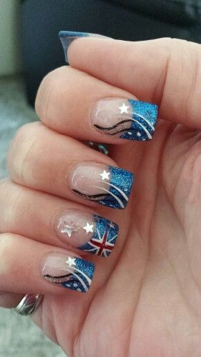 Something a bit different than the usual Aussie flags for Australia Day. Nails by Kristie at Nail Art Studio.