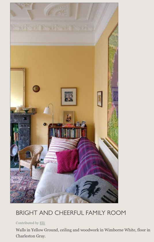 farrow and ball yellow ground dr mmigt pinterest. Black Bedroom Furniture Sets. Home Design Ideas