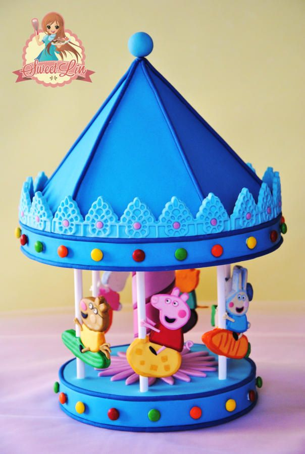 Cake Decorating Carousel : PEPPA PIG S CAROUSEL CAKE TOPPER Cakes & Cake Decorating ...