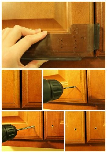 Installing Kitchen Cabinet Hardware - Tips for installing knobs and pulls to doors and drawers