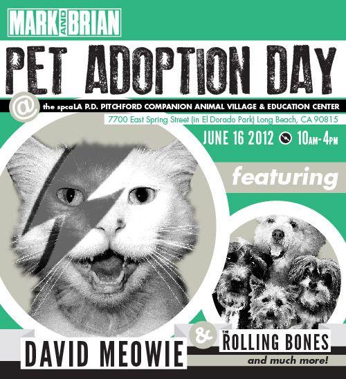 I'll be at the @MarkandBrian Pet Adoption Day @spcaLA help me promote adoption. http://spcala.com