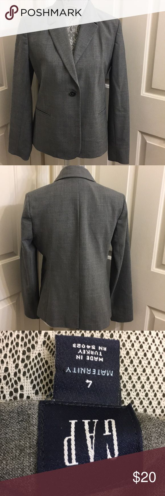Gap grey maternity suit jacket Like new. Great condition. GAP Jackets & Coats Blazers