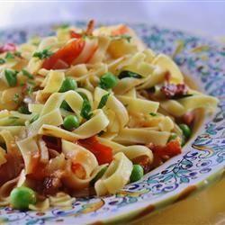 Pasta with Bacon and Peas - Allrecipes.com