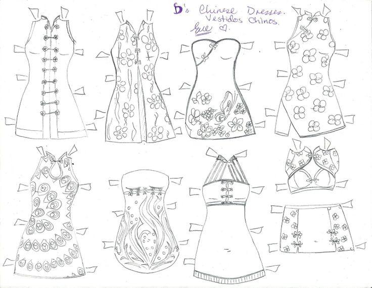 Best She Art Images On   Paper Dolls Paper Dresses