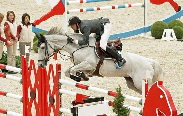 Les chevaux de sports - Silvana HDC - Kevin Staut et Silvana HDC lors de l'édition 2012 du Saut Hermès à Paris