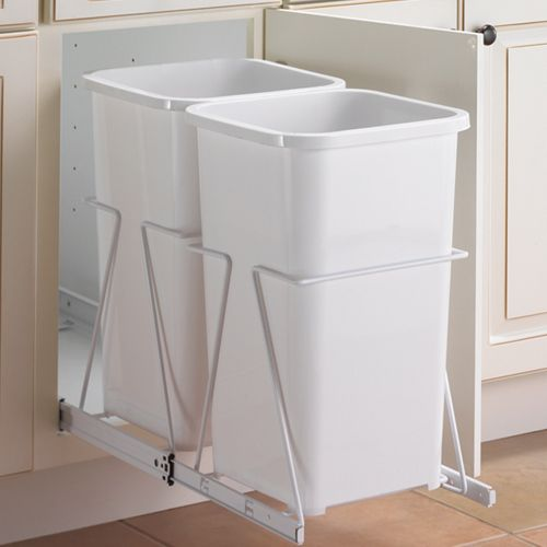 The Double Recycle Bins Are Great For Organizing Your