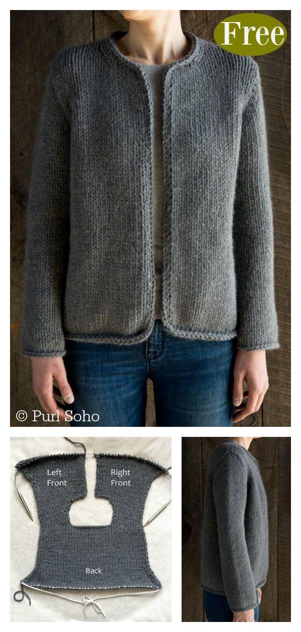 Padrão de tricô sem casaco clássico