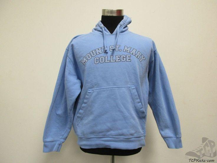 Gear Mount St Mary College Hoody Sweatshirt sz M Medium Mountaineers Blue  #Gear #MountStMarysMountaineers #tcpkickz