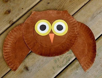 crafts kids paper plate owl - the kids are going to LOVE to paint this! They pretty much love ANYTHING with paint
