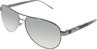 Ralph Lauren Men's  RA4004-103/11-59 Gunmetal Aviator Sunglasses