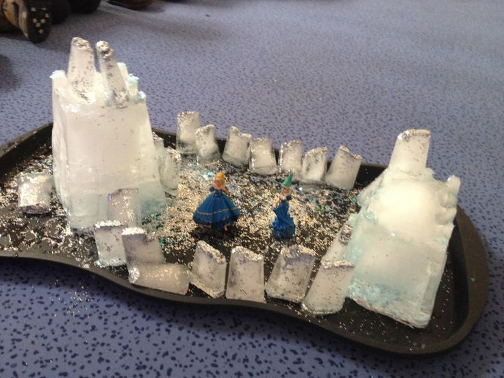 Frozen small world play.  This would be good for the children who love frozen.