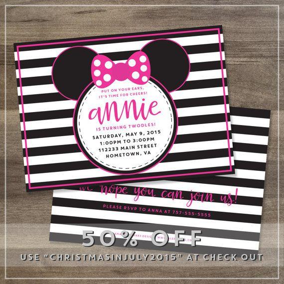 Minnie Mouse Birthday Party Invitation // Amanda Franks Design