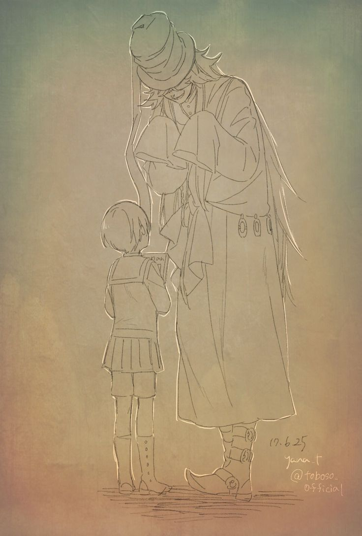 Little Ciel and Undertaker – Yana Toboso's sketch (x)