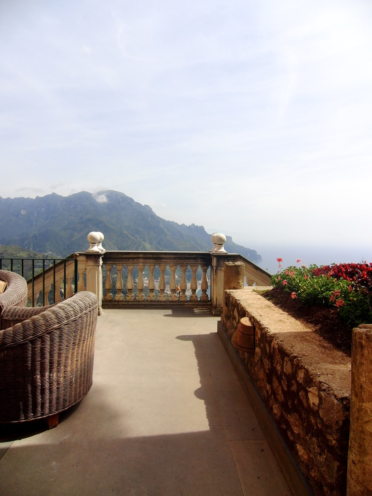 The stunning Terrace at Palazzo Sasso