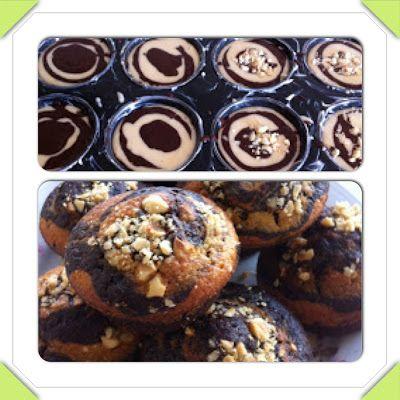 Zebra muffin kek nasıl yapılır!   En pratik, en nefis muffin kek!   Evdeki pratik malzemelerle zebr...