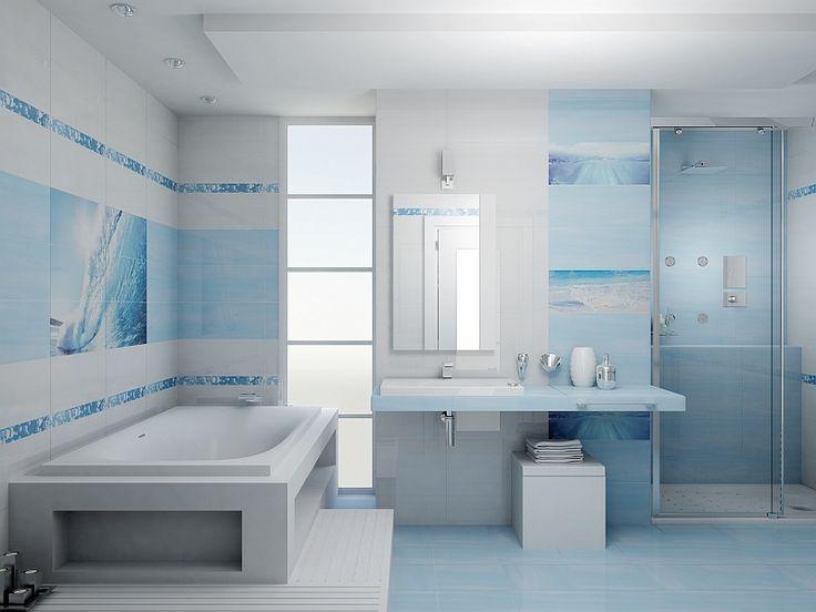 http://www.kreocen.pl/kreowskaz/2015/marzec.html?page=19 #bathroom #bath #łazienka #lazienka #homedecor #styl #marynistyczny #morski #design #nowoczesny #kreowskaz #wanna