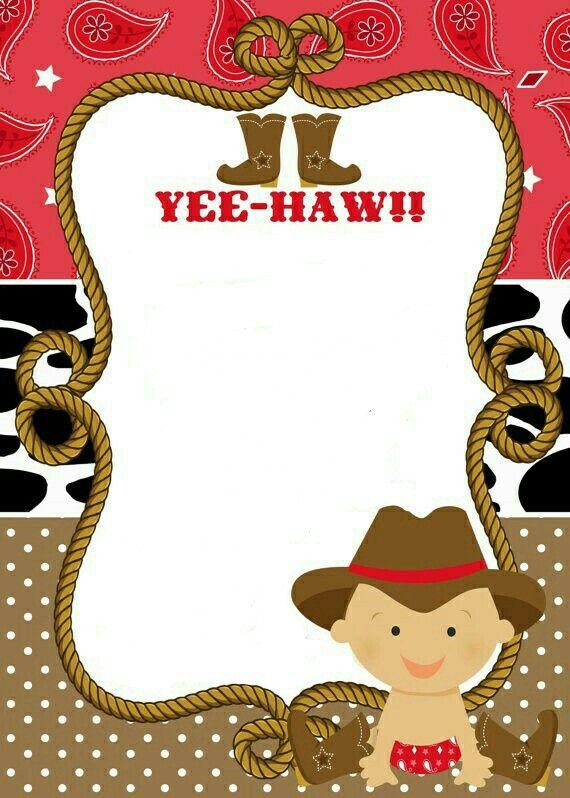 Cowboy babyshower printable