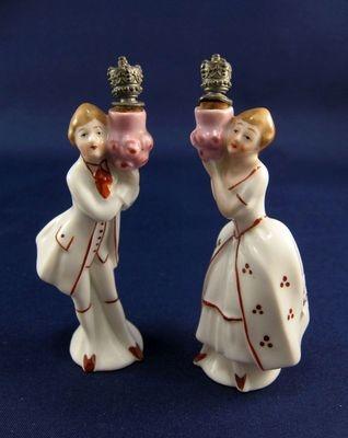 ★Vintage German Pair of Crown Top Perfume Scent Bottles, ★ | eBay