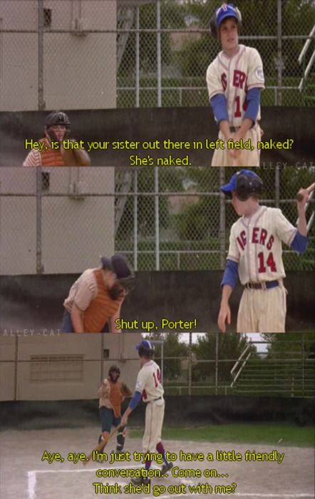 Aye Aye , I'm Just Trying to have a little friendly conversation. - The Sandlot