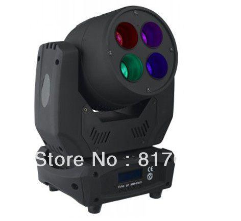 4 piezas de 30W LEDs cabeza movil RGB 3-en-1 rojo verde azul 24 DMX512 fiestas eventos matrimonios salones fiestas infantiles #Affiliate