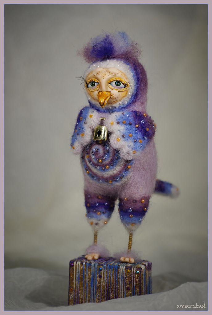 Птица. Серия Секретики *** doll, dollart, hand made, ©ambercloud, авторская кукла