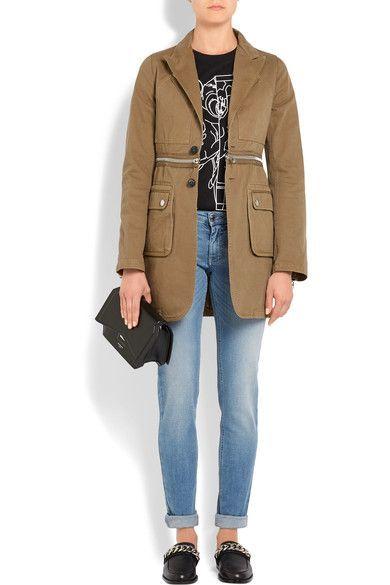 Givenchy | Zip-detailed cotton-twill blazer | NET-A-PORTER.COM