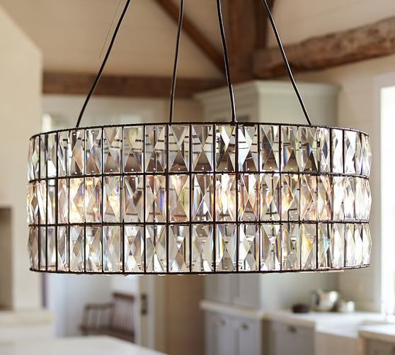 Adeline Crystal Chandelier | Pottery Barn- For Bathroom