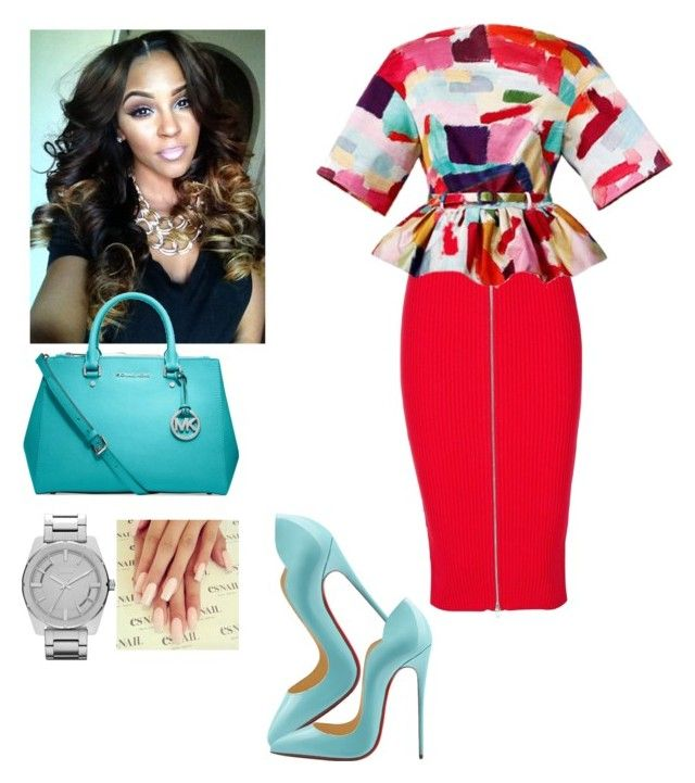 """""""Church"""" by cogic-fashion ❤ liked on Polyvore featuring T By Alexander Wang, Christian Louboutin, Prada, MICHAEL Michael Kors and Diesel"""
