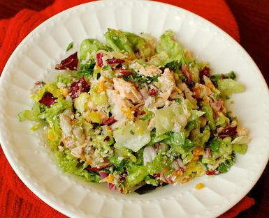 Fresh and Easy Salmon Caesar Salad: Salmon Caesar Salad