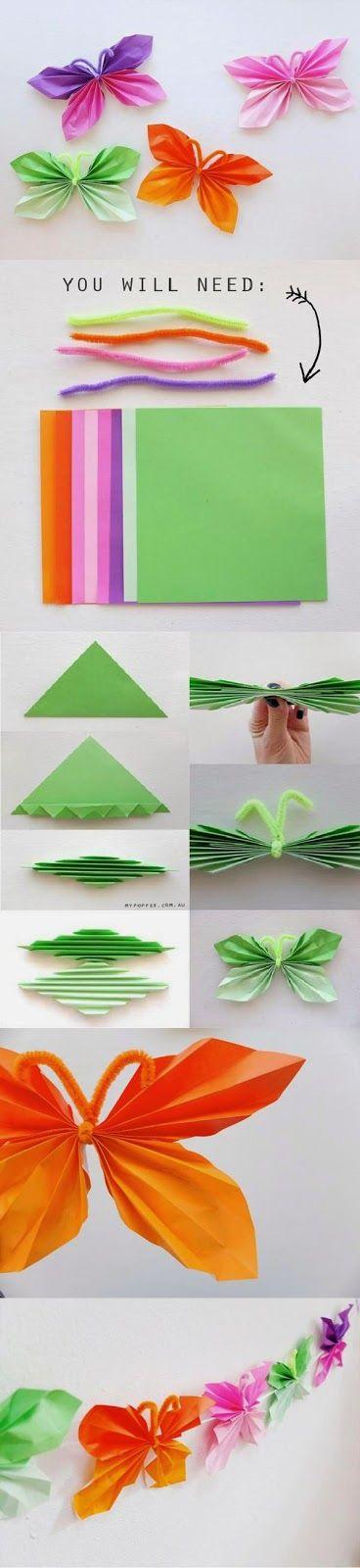 DIY : Folded Paper Butterfly