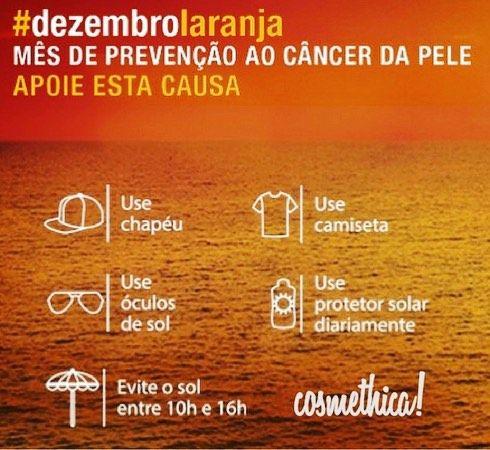 Dezembro Laranja é uma campanha da Sociedade Brasileira de Dermatologia (@dermatologiasbd) que foca na luta e prevenção ao câncer de pele e tenta alertar a população sobre a necessidade de se proteger no dia a dia independente do tempo do sol para prevenir o câncer da pele.  Pelo terceiro ano consecutivo a população é convidada o a participar do projeto aderindo o laranja durante o mês todo decorando o ambiente de trabalho com a cor e também compartilhando as hashtags #dezembrolaranja e…