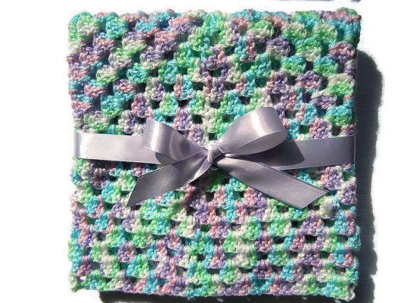 Crochet baby blanket newborn blanket pink baby door EraOfCrea