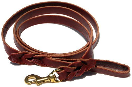 $17.95-$17.95 Signature K9 Braided Leather Leash, 6-Feet x 3/4-Inch, Burgundy - Built by Amish craftsmen, this American made braided 6-foot burgundy lead features 3/4-inch wide soft, high-quality latigo leather with beveled edges for a firm grip and all-day hand comfort. No stitching or rivets used here, this lead has been slot braided for ultimate strength and it looks good too. Includes a 3/4-i ...
