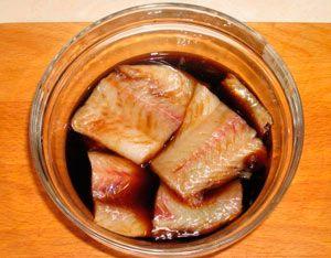 Минтай по корейски в соевом соусе