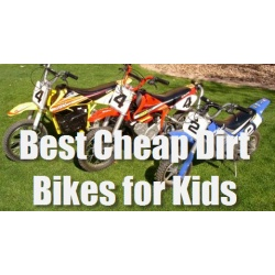 The best cheap dirt bikes for kids are smaller scaled down versions of real professional motocross dirt bikes. These kids dirt bikes are perfect...