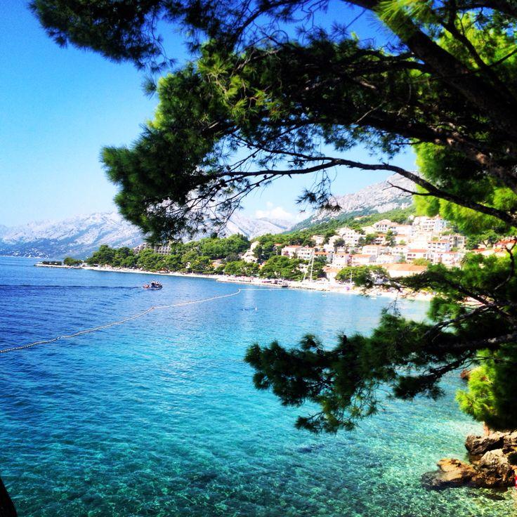 Kroatiens stränder och klara vatten